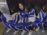 Chinese school uniform foot lick white sock