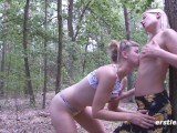 Nature Walk in the Woods Turns into Strap On Sex Session